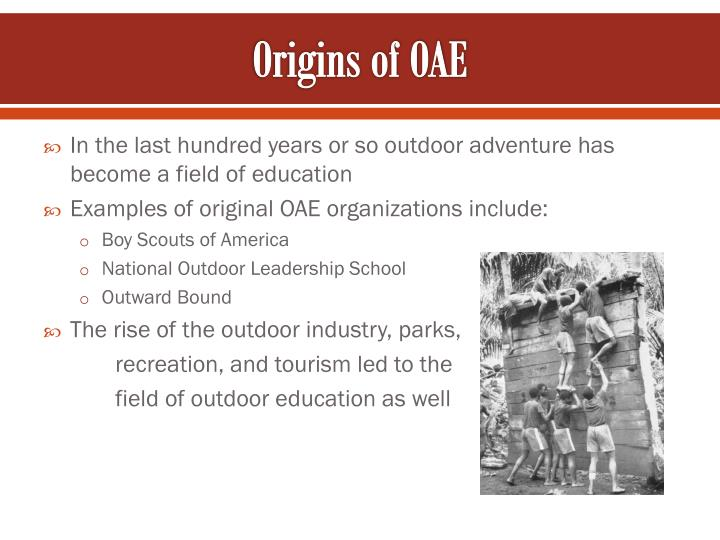 Origins of OAE