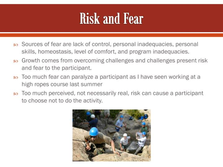 Risk and Fear