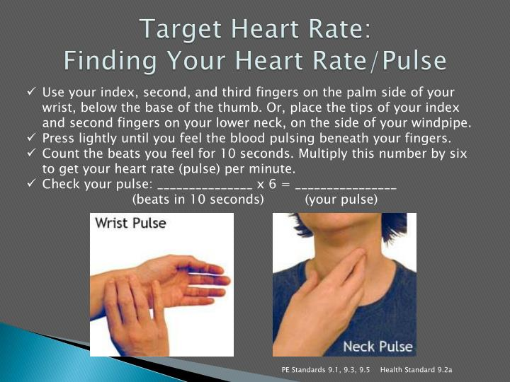 Target heart rate finding your heart rate pulse