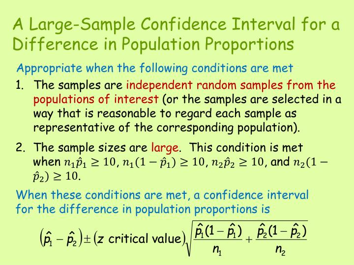 A Large-Sample Confidence Interval for