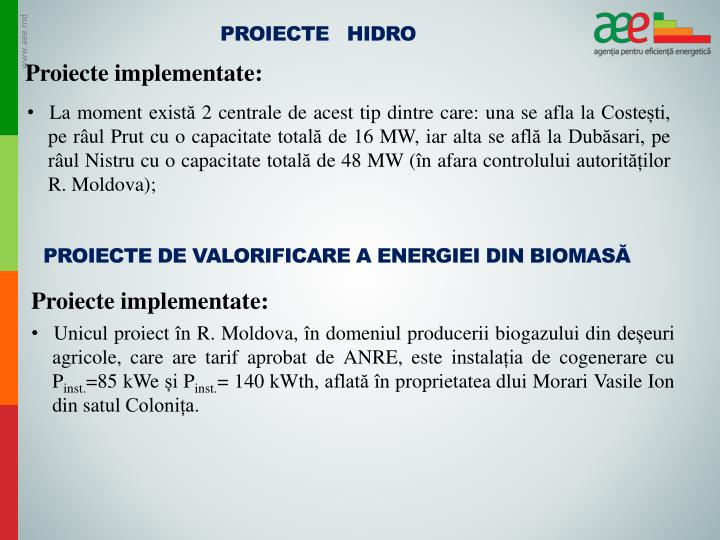 Proiecte   Hidro