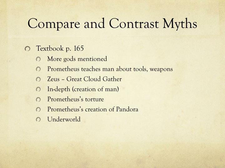 compare contrast essay creation myths