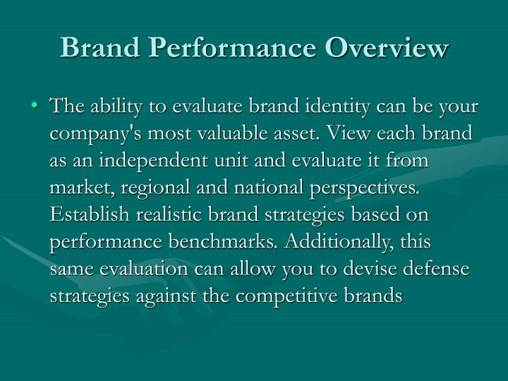 Brand Performance Overview