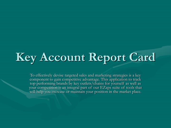 Key Account Report Card