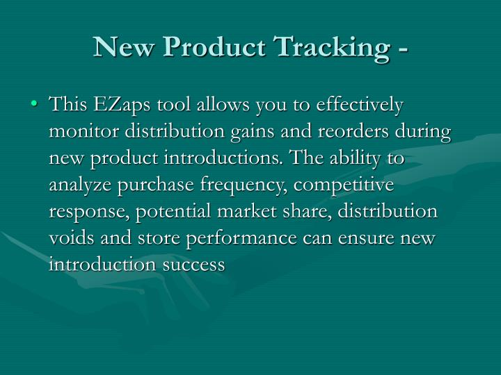 New Product Tracking -