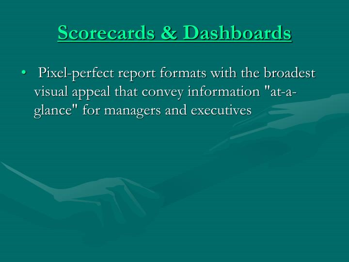 Scorecards & Dashboards