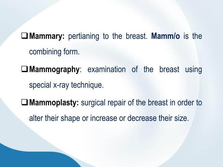 Mammary: