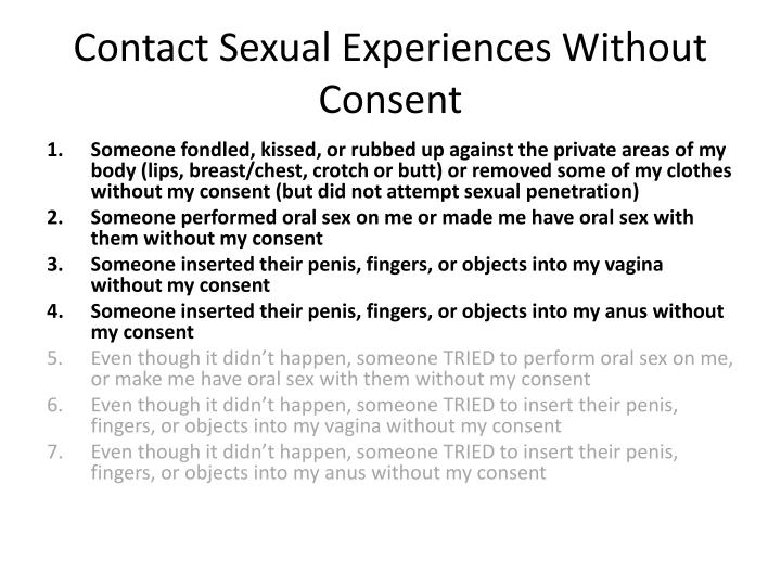 Contact Sexual Experiences Without