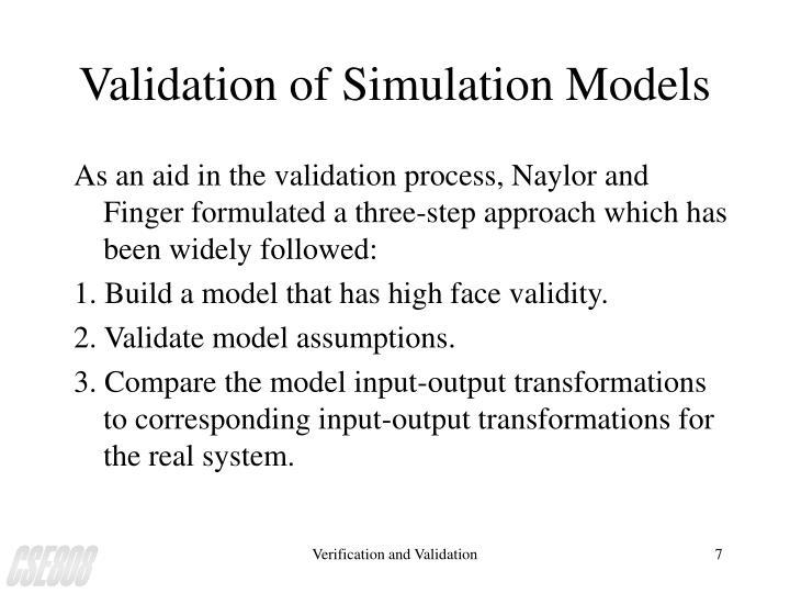 Validation of Simulation Models