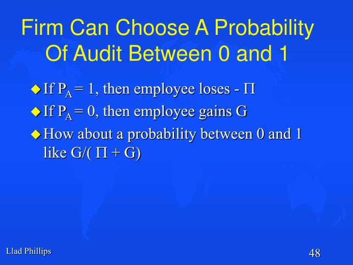 Firm Can Choose A Probability Of Audit Between 0 and 1