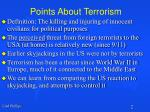 points about terrorism