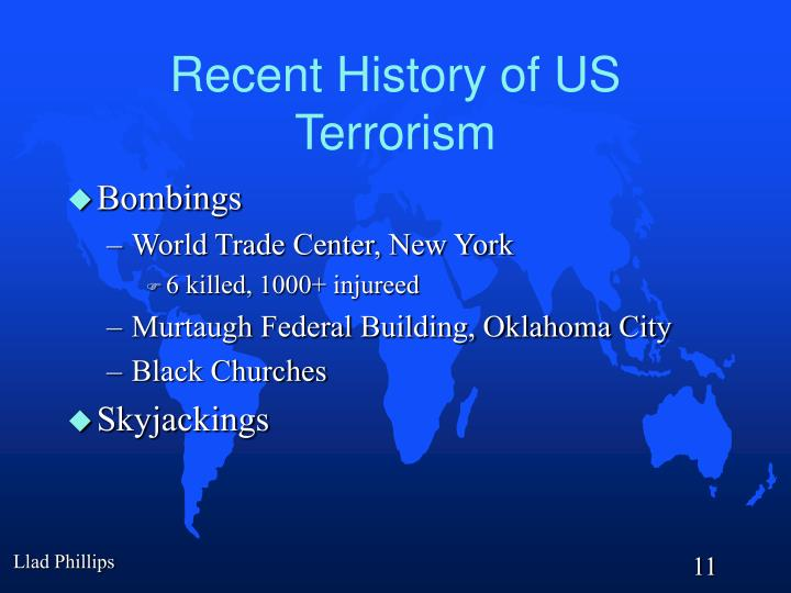 Recent History of US Terrorism