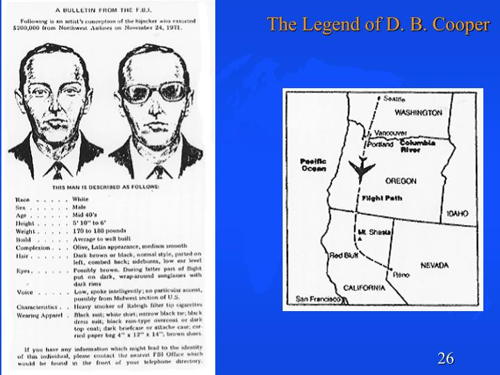 The Legend of D. B. Cooper