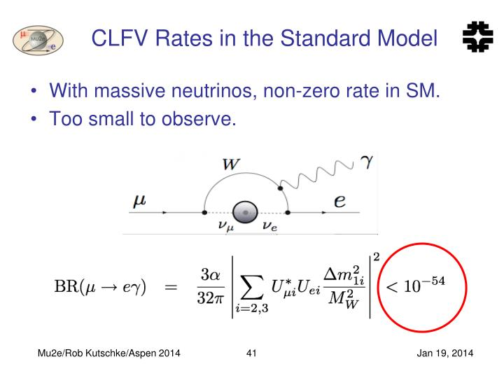 CLFV Rates in the Standard Model