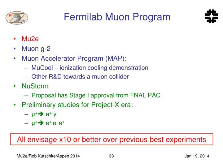 Fermilab Muon Program