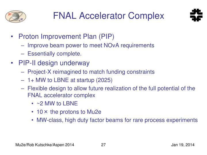 FNAL Accelerator Complex