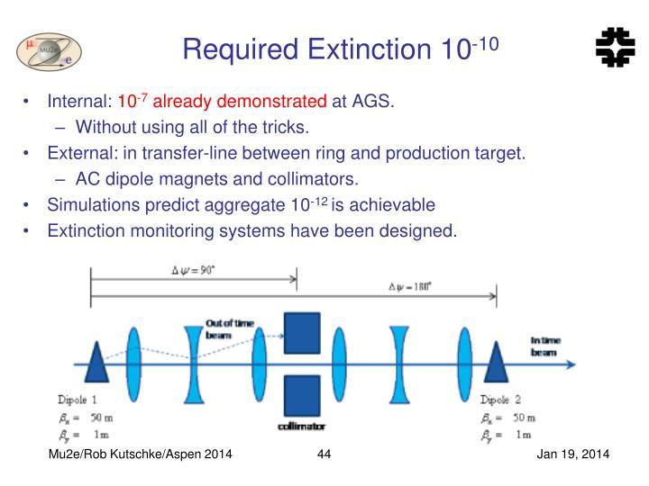 Required Extinction 10