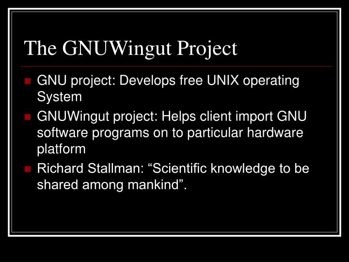 The GNUWingut Project
