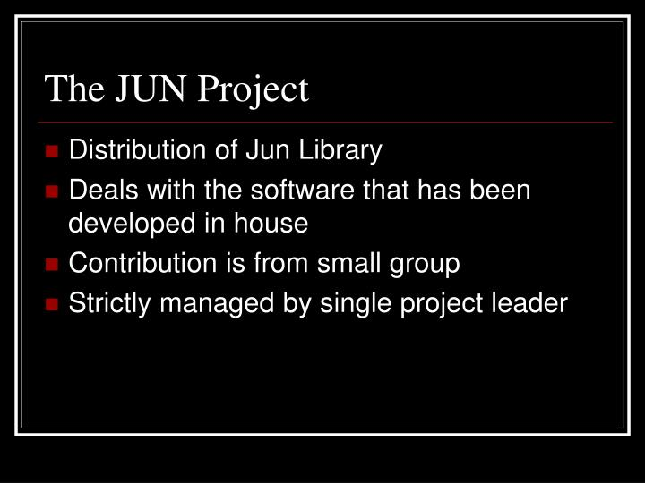 The JUN Project