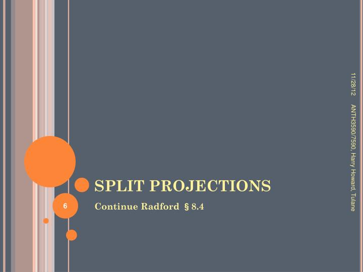 SPLIT PROJECTIONS