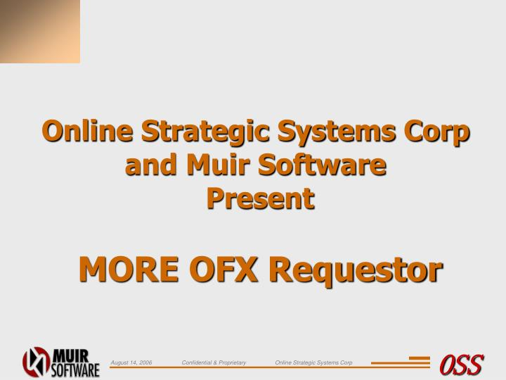 Online Strategic Systems Corp