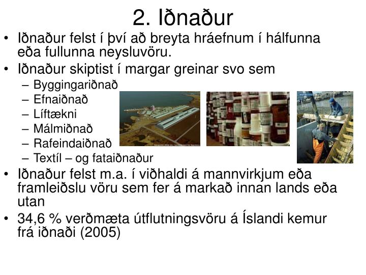 2. Iðnaður