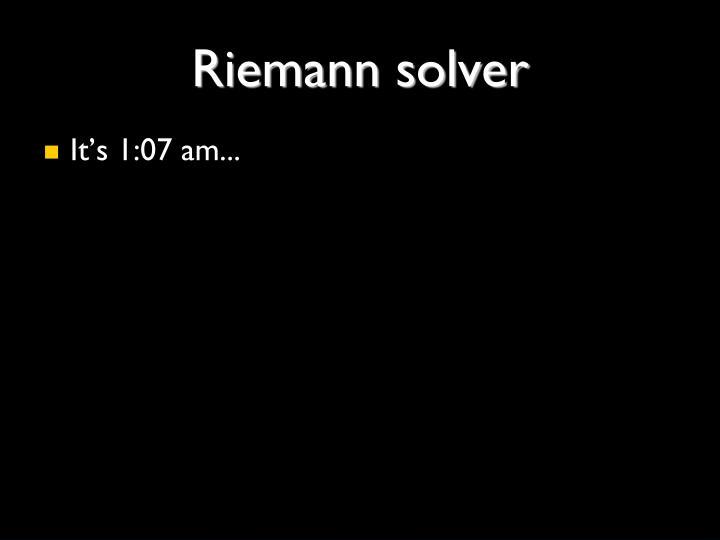 Riemann solver