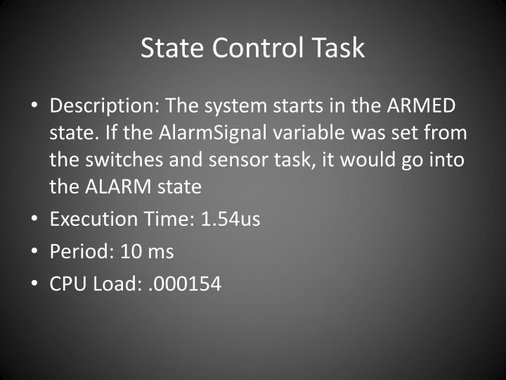 State Control Task