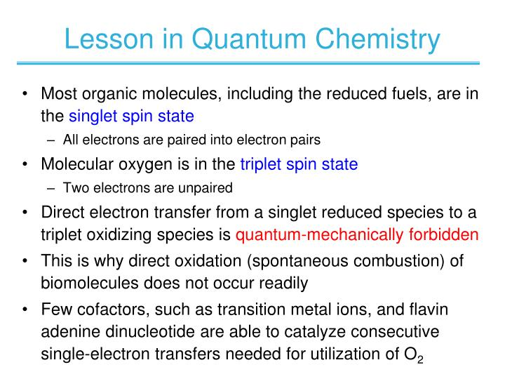 Lesson in Quantum Chemistry