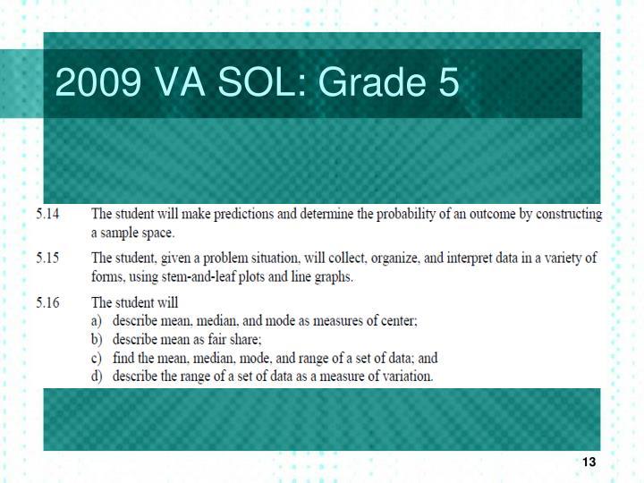 2009 VA SOL: Grade 5