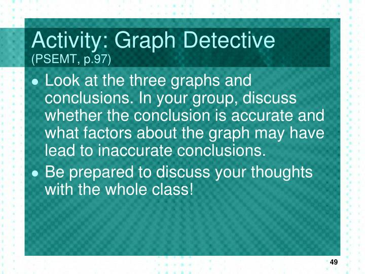 Activity: Graph Detective