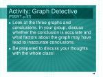 activity graph detective psemt p 97