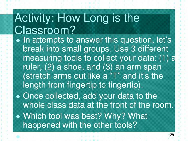 Activity: How Long is the Classroom?