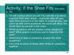 activity if the shoe fits bereska p 34