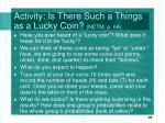 activity is there such a things as a lucky coin nctm p 68