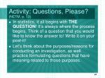 activity questions please nctm p 13