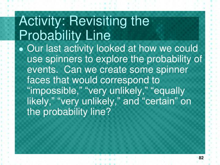 Activity: Revisiting the Probability Line