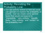 activity revisiting the probability line