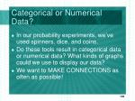 categorical or numerical data