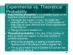 experimental vs theoretical probability