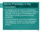 more probability in the classroom