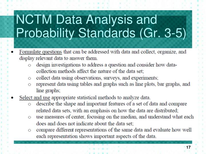 NCTM Data Analysis and Probability Standards (Gr. 3-5)