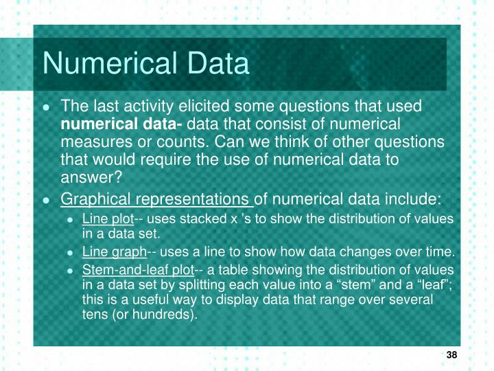 Numerical Data