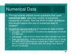 numerical data