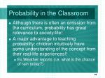 probability in the classroom