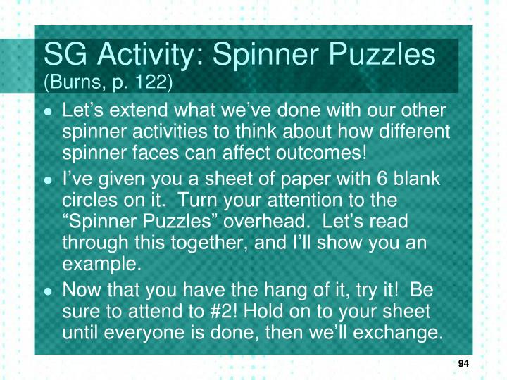 SG Activity: Spinner Puzzles