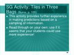 sg activity tiles in three bags burns p 105