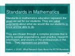 standards in mathematics