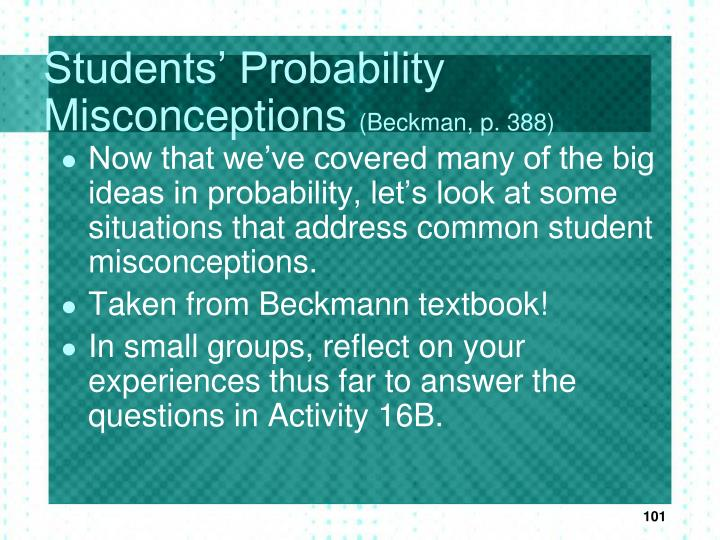 Students' Probability Misconceptions
