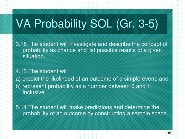VA Probability SOL (Gr. 3-5)